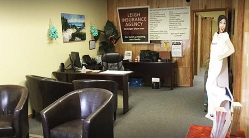 Lobby Area of Leigh Insurance Agency Office